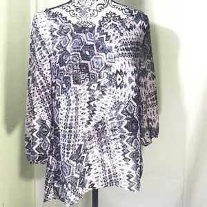 Maurices Women's Sheer Blouse 100% Poly